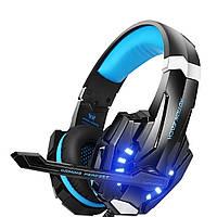 Геймерські навушники Kotion Each G9000 з підсвічуванням (Чорно-синій)