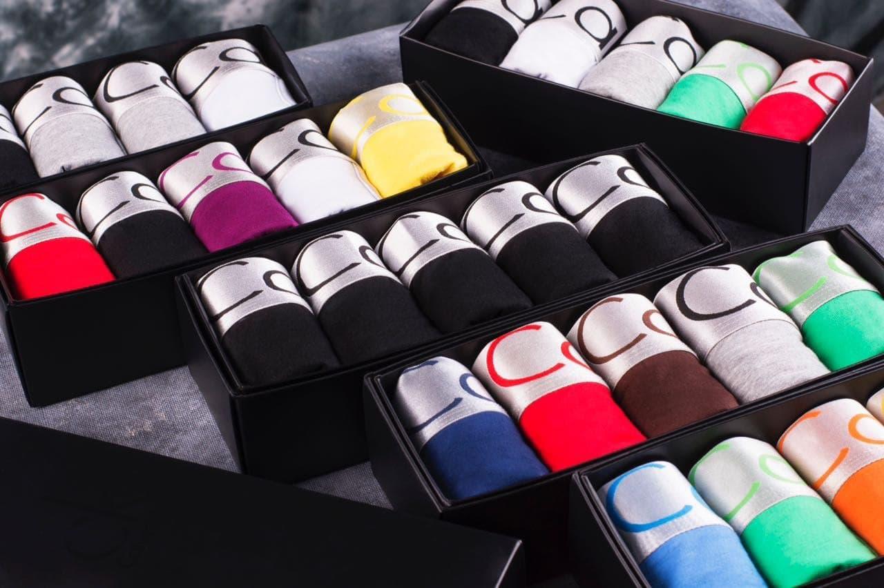 Набор мужских трусов Calvin Klein (5 шт) Кельвин Кляйн L, Синий