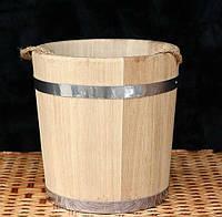 Ведро дубовое для бани 12л кольца с нержав. металла