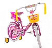 """Детский велосипед Azimut Girls 16"""" Бело-фиолетовый"""