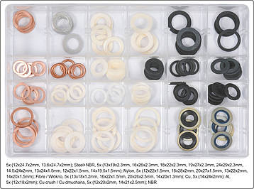 Набор шайб сливных пробок 120 шт. YATO YT-068641, фото 2