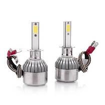 Комплект LED ламп для авто Ближний/Дальний Headlight C6 H1, светодиодные лампы в авто, передний свет, фото 3