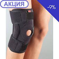 Бандаж на колено разъемный неопреновый с силиконовым кольцом и полицентрическим шарниром Aurafix 3104, фото 1