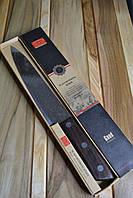 Качественный кухонный Нож Freeship c имитацией дамасской стали, 31см