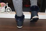 Черевики жіночі сині зимові на шнурівці С111, фото 5