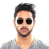 Мужские Солнцезащитные Очки Ray Ban 3548N Hexagonal копия Солнечные мужские очки Рей Бен металлической оправе