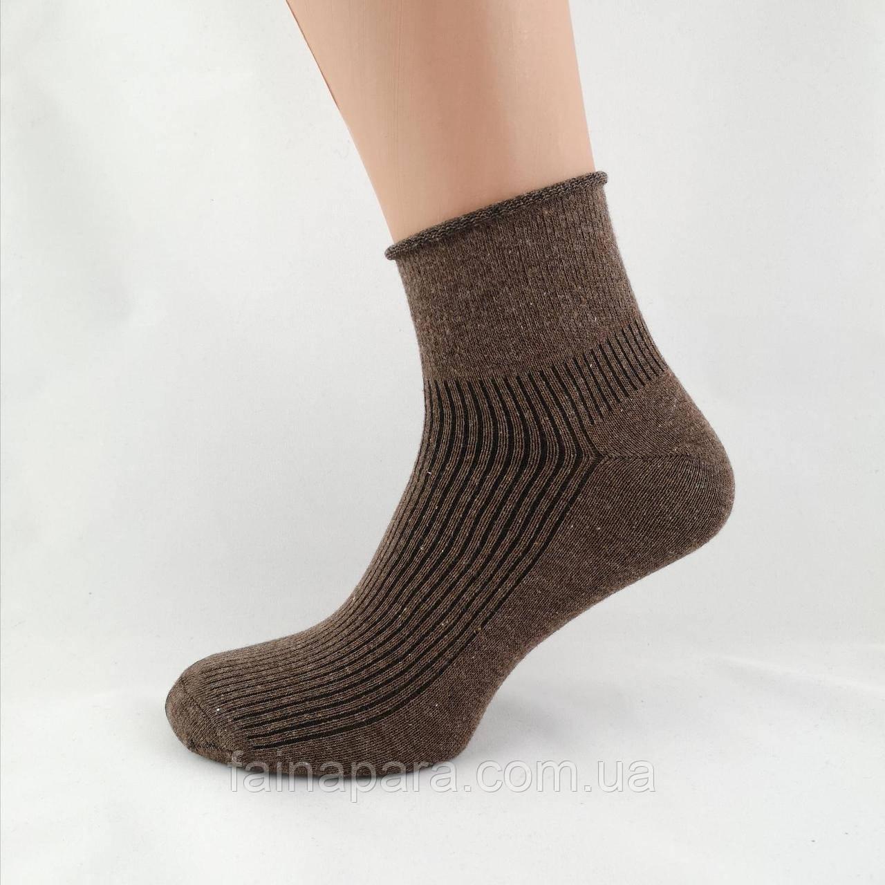 Мужские хлопковые средние  носки без резинки Calze More Турция