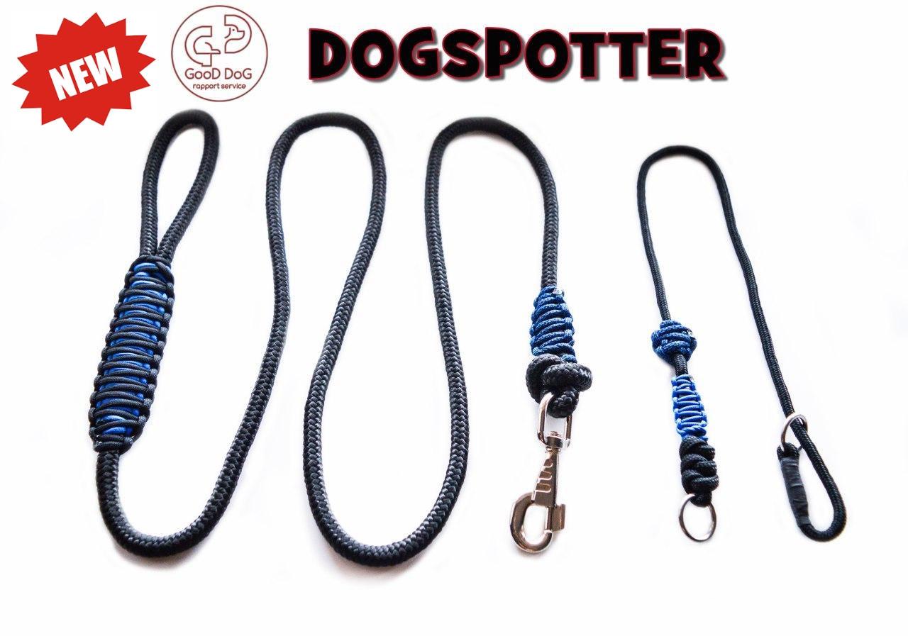 Поводок и ошейник контроллер удавка для собак 2 в 1 Good Dog DogSpotter 1,7 метра черно-синий