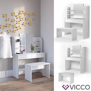 Туалетний столик з лавкою 108x142 Vicco Charlotte, білий