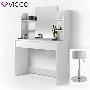 Туалетний столик зі стільцем 108x142 Vicco Charlotte, білий
