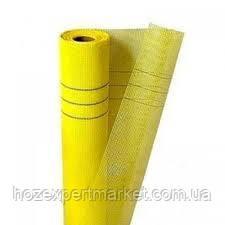 """Сетка строительная (фасадная,желтая) 160 g\m2"""" 1х50м,ячейка4х4мм,(для наружных и внутренних работ ПОЛЬША)"""