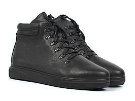 Ботинки мужские зимние черные кожаные на меху на молнии обувь больших размеров Rosso Avangard Ranger Floto