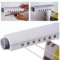 Автоматическая бельевая веревка, вытяжная настенная сушилка для белья для домохозяек.