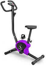 Велотренажер механічний фіолетовий до 100 кг користувача