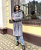 Брендове зимовий вовняне пальто з капюшоном, фото 3