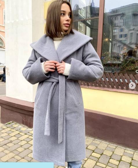 Брендове зимовий вовняне пальто з капюшоном