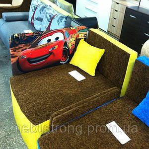 Детский диван Мультик - принт машина Молния Маквин
