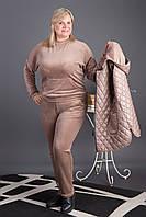 Теплый костюм тройка костюм тройка модель 4743 Zeta-m большие размеры (батал)