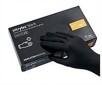 Перчатки нитрил Nitrylex black,без пудры, размер XS