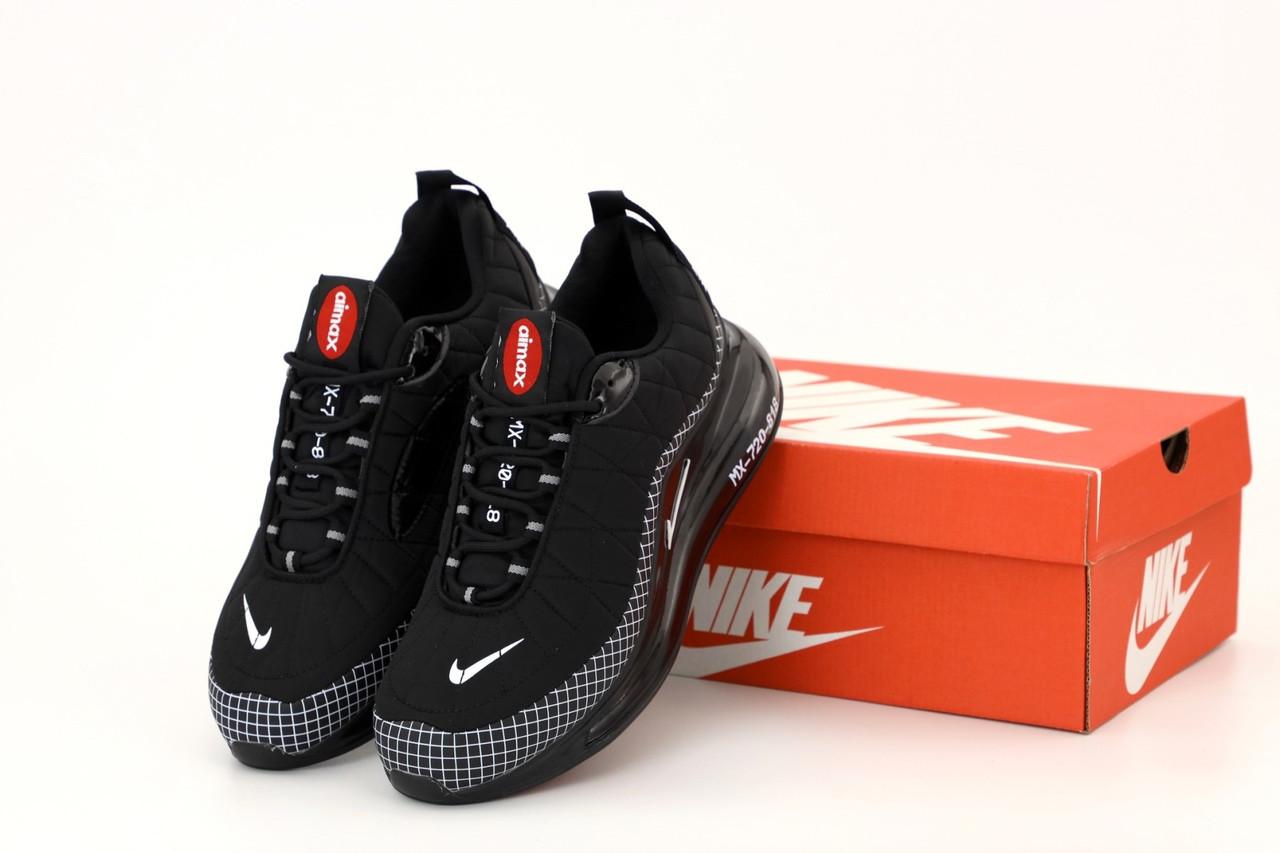 Чоловічі кросівки Nike Air Max 720 818 в стилі найк аір макс Чорні (Репліка ААА+)