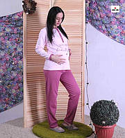 """Жіноча піжама з начосом рожева """"Пантерка"""" 42-54 р."""