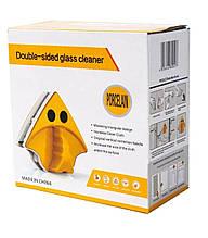 Магнитная щетка для мытья окон и стеклянных дверей с двух сторон GTM Double sided Glass cleaner