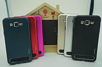 Бампер алюминиевый для Samsung Galaxy A7 2015 A700 - Motomo TPU Metal case, разные цвета