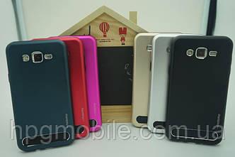 Бампер алюминиевый для Samsung Galaxy E5 E500 - Motomo TPU Metal case, разные цвета