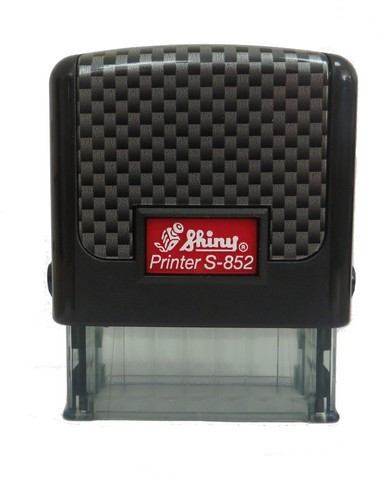 "Оснастка пластиковая для штампа Shiny Printer S-852 ""Карбон"" 38х14мм., ассорти"