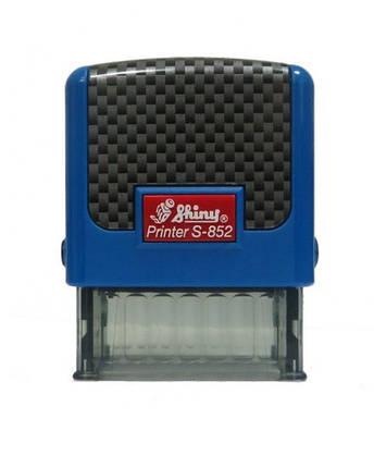 "Оснастка пластиковая для штампа Shiny Printer S-852 ""Карбон"" 38х14мм., ассорти, фото 2"