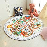 Дитячий килимок-мішок (Dizzy) круглий  150 см. (ХБ тканину) (150-440-F)