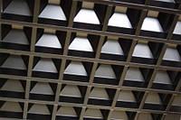 """Подвесные потолки решетчатые """"Пирамидальный Грильято""""  100х100 (яч.50)"""