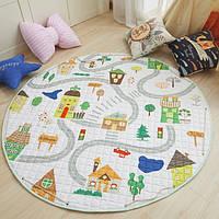 Дитячий килимок-мішок (Dizzy) круглий  150 см. (ХБ тканину) (150-440-G)