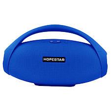 Портативна bluetooth колонка Hopestar H31 BIG, синя, фото 3