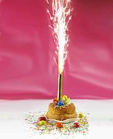 Разноцветный холодный фонтан фейерверк для торта 20 см