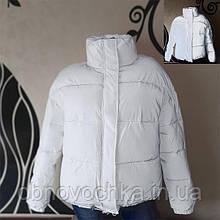Світловідбиваюча куртка - білий зріст 164