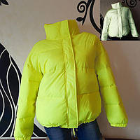 Светоотражающая куртка - желтый рост 164