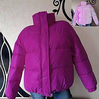 Светоотражающая куртка - сирень рост 164