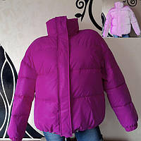 Светоотражающая куртка - сирень рост 152