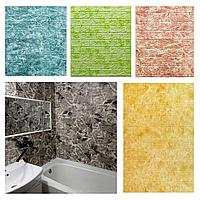 Самоклеючі 3Д панелі Мармур 700*770*5мм безпечні вологостійкі 3d настінні декоративні для стін