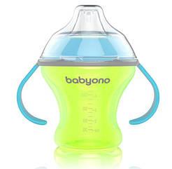 Чашка-непроливайка BabyOno Natural Nursing с мягким носиком, 180 мл, зеленый (1456)