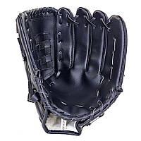 Пастка, рукавичка для бейсболу (р-р 10,5; 11,5; 12,5) C-1878 чорний