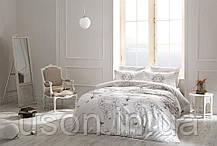 Комплект постельного белья Tac сатин Glow Ruby евро