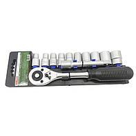 Набор инструмента 12 головок, трещотка, удлинитель KSD-012
