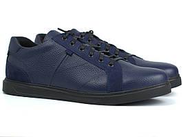 Обувь больших размеров мужские кожаные кроссовки синие кеды Rosso Avangard Puran Blu Floto BS