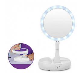 Зеркало для макияжа c LED подсветкой круглое (W-12) (WJ25)