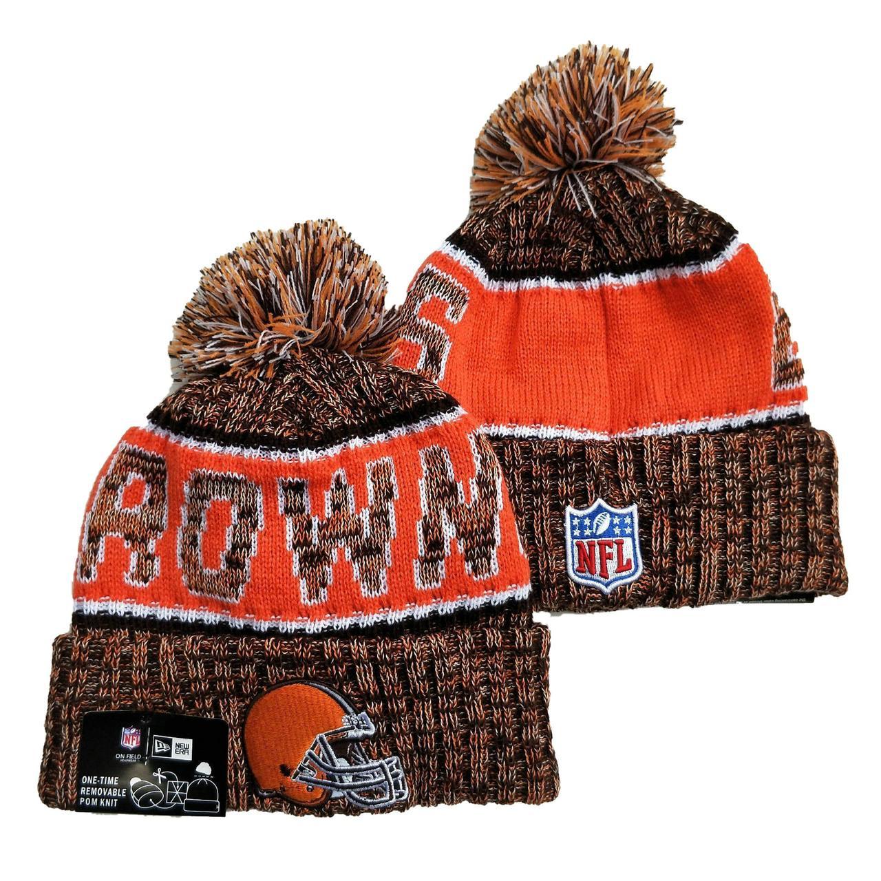 Шапка зимняя Cleveland Browns / SPK-044 (Реплика)