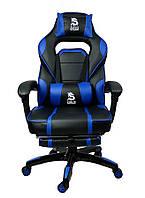 Спортивне крісло компютерне DEUS LARGE СИНЄ Компьютерное кресло Стул игровой Геймерське крісло офісне Кресло