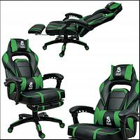 Геймерское кресло Спортивне крісло DEUS LARGE ЗЕЛЕНЕ Ігрове офісне крісло Кресло для компьютера Стул игровой