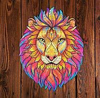 """Уникальный деревянный фигурный пазл «Король Лев», Деревянная головоломка """"Король Лев"""" (30*21 см)"""